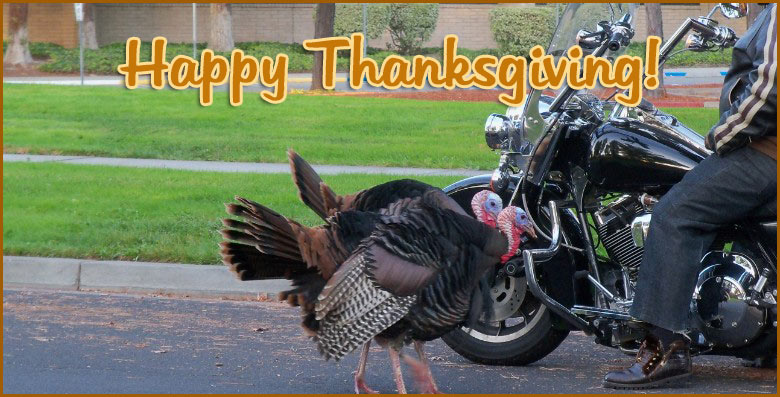 Happy Thanksgiving and Sell Your Motorcycle to Us!